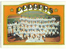 1972 Topps Baseball Cards      522     Los Angeles Dodgers TC